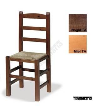 Silla en madera ECO asiento de anea 1T120