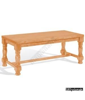Mesa de bar de madera 4T320M patas torneadas
