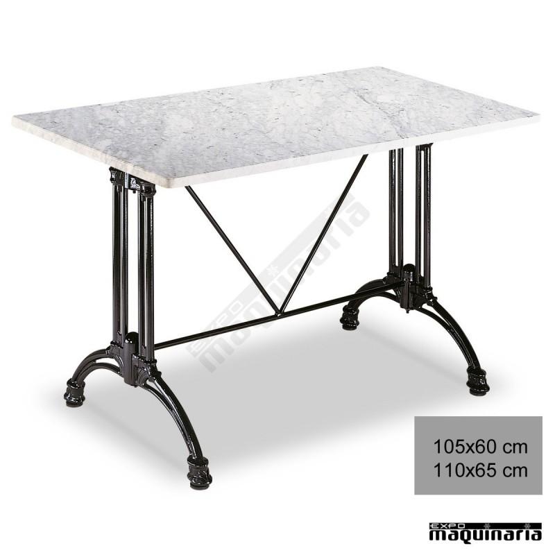 Mesa de m rmol 3r64ma para hosteler a armaz n de aluminio for Marmol para mesa