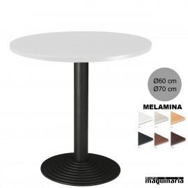 Mesa redonda bar 3R70MER tablero blanco