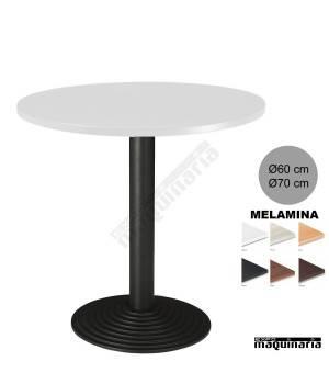 Mesa redonda bar 3R70SMR tablero blanco