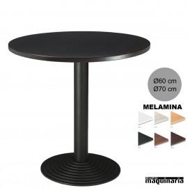 Mesa redonda bar 3R70SMR tablero negro