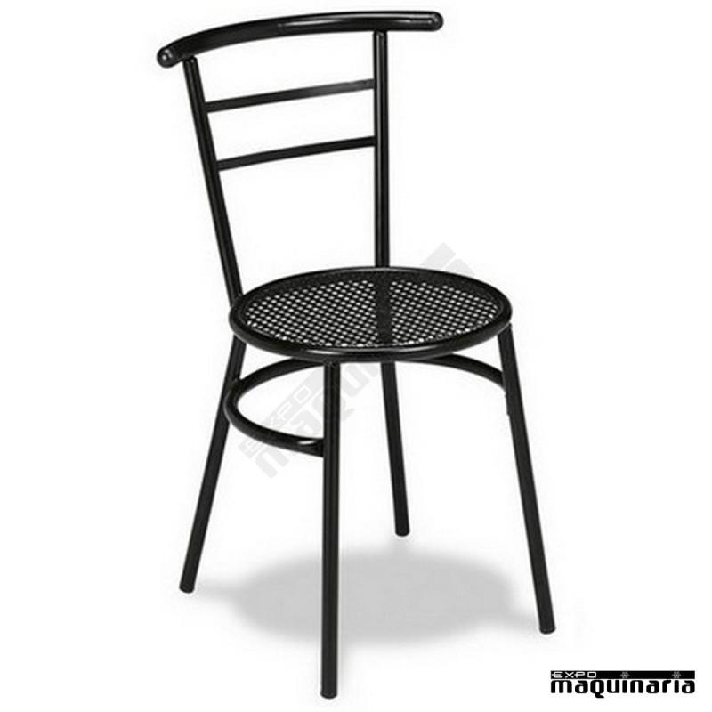Silla bar asiento rejilla 1r01rej apilable interior - Silla metalica apilable ...