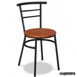 Silla Bar asiento madera 1R01MAD apilable