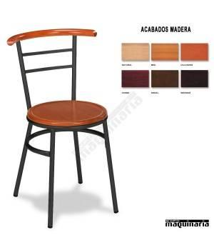 Silla Bar asiento madera 1R02MAD interior