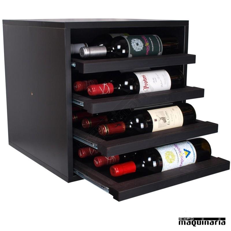 Armario vino neutro extraible exsyrah mini 16 botellas for Muebles para vinotecas