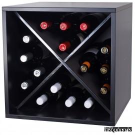 Armario para vino neutro en cruz MONASTRELL mini 16 botellas