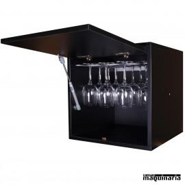 Armario para vino neutro MONASTRELL mini 16 copas y soporte de gas