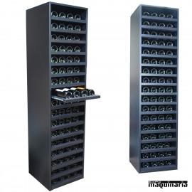 Armario para vino neutro baldas extraibles MERLOT 68 botellas