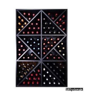 Armario para vino neutro MERLOT Super para 124 botellas