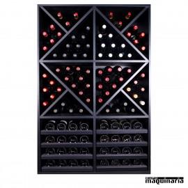 Armario para vino neutro MERLOT Super para 112 botellas