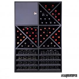 Armario para vino neutro MERLOT Super 16 copas y 92 botellas