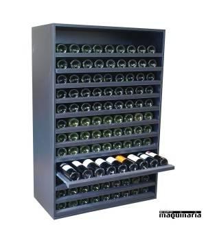 Armario para vino neutro MERLOT Super extraible para 108 botellas