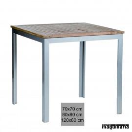 Mesa terraza 4R12TE aluminio apilable