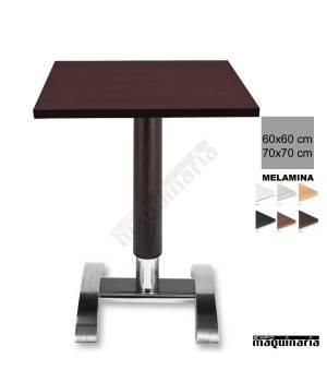 Mesa bar 3R78ME columna de madera