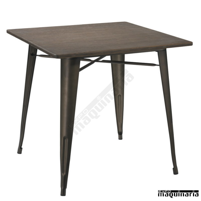 Mesa hierro vintage hosteler a agt1408 de estilo antiguo for Mesas de centro metalicas