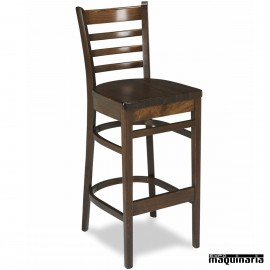 Taburete 27 madera de haya con respaldo asiento madera