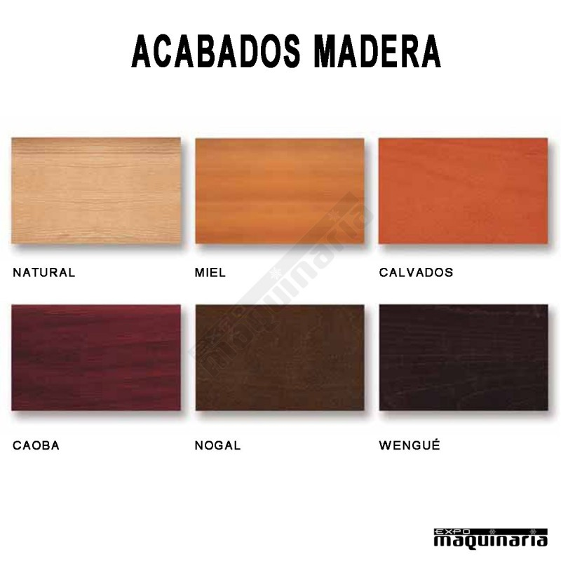 Taburete aluminio anodizado 5r71ma asiento madera - Colores de madera ...