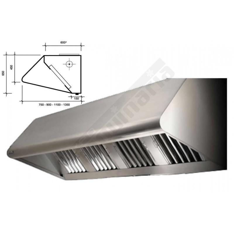 Maquinaria hosteleria capana extractora monobloc 1000 for Medidas de cocina industrial