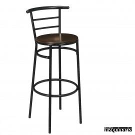 Taburete bar hosteleria 5R12MA asiento madera