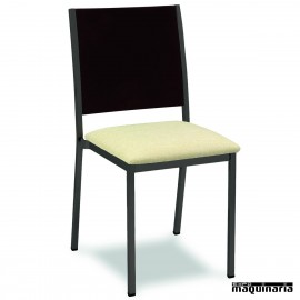 Silla hostelería apilable 1R38TM asiento tapizado