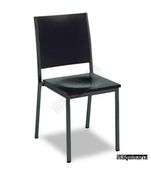 Silla hostelería apilable 1R38TM asiento madera