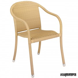 Sillon bar Aluminio 2R58MED apilable