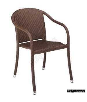 Sillon bar Aluminio 2R58P apilable