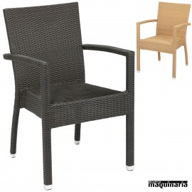 Sillon bar Aluminio 2R59 apilable