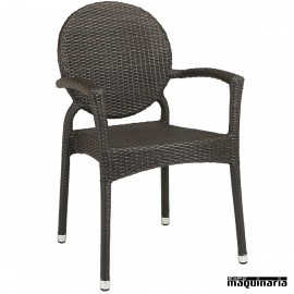 Sillon bar aluminio 2R00 apilable