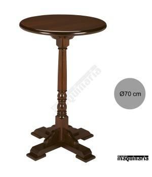 Mesa alta madera 4R2R redonda