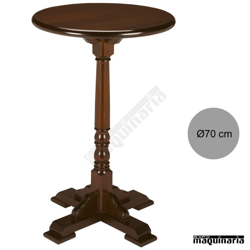 b575cf75a9d9 Mesa alta madera 4R2R redonda