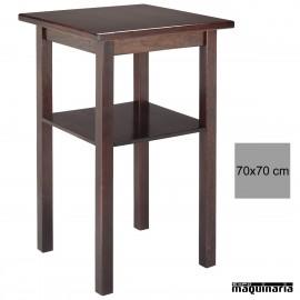 Mesa alta madera 4R4 cuadrada