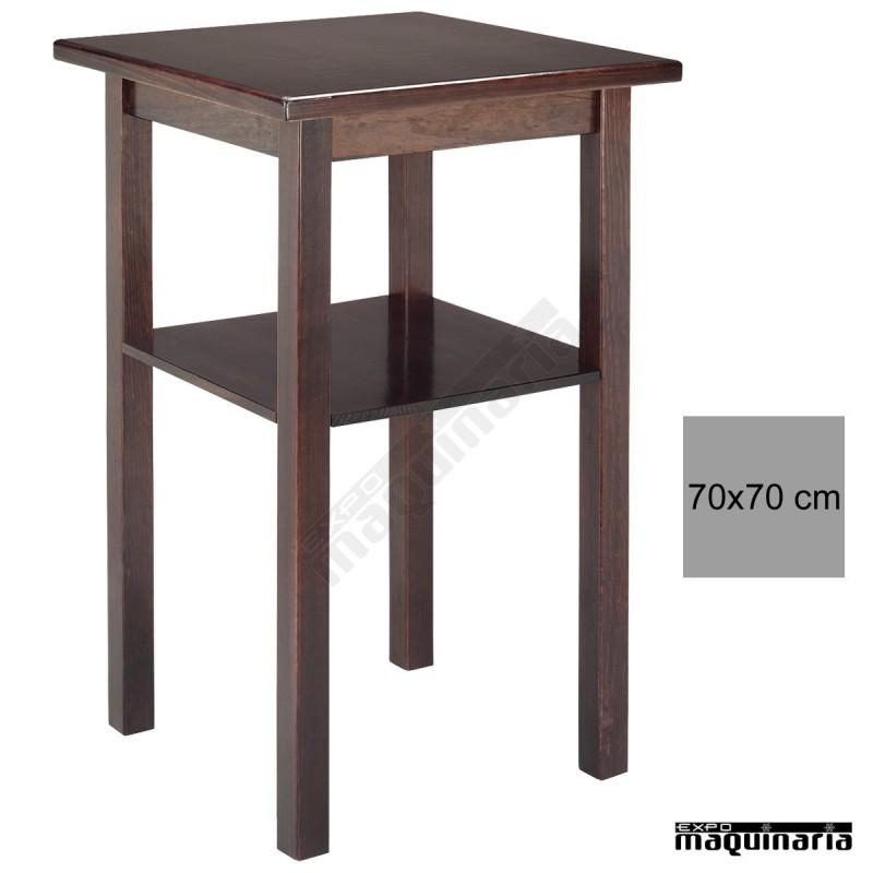 Mesa alta madera 4r4 cuadrada - Mesas altas de bar ...