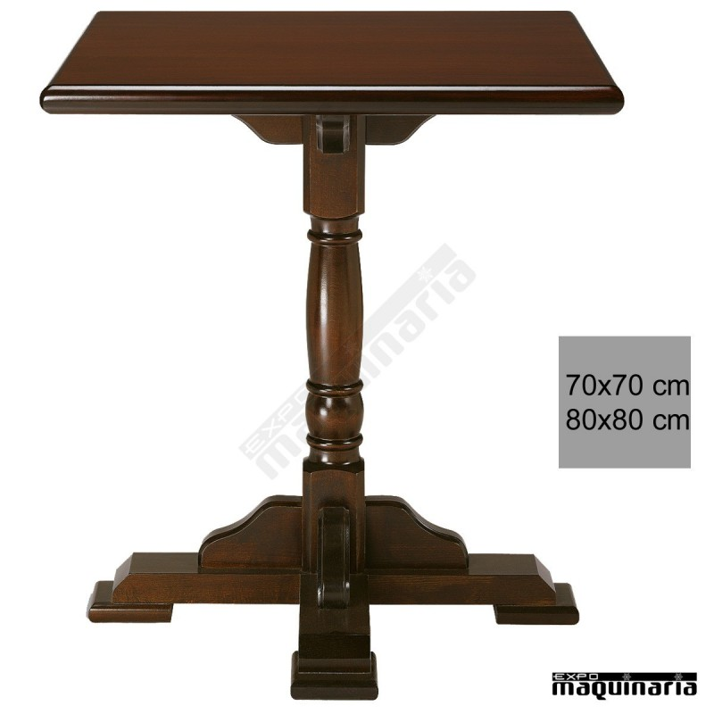 Mesa madera bar 4r0c cuadrada for Mesas de madera bar
