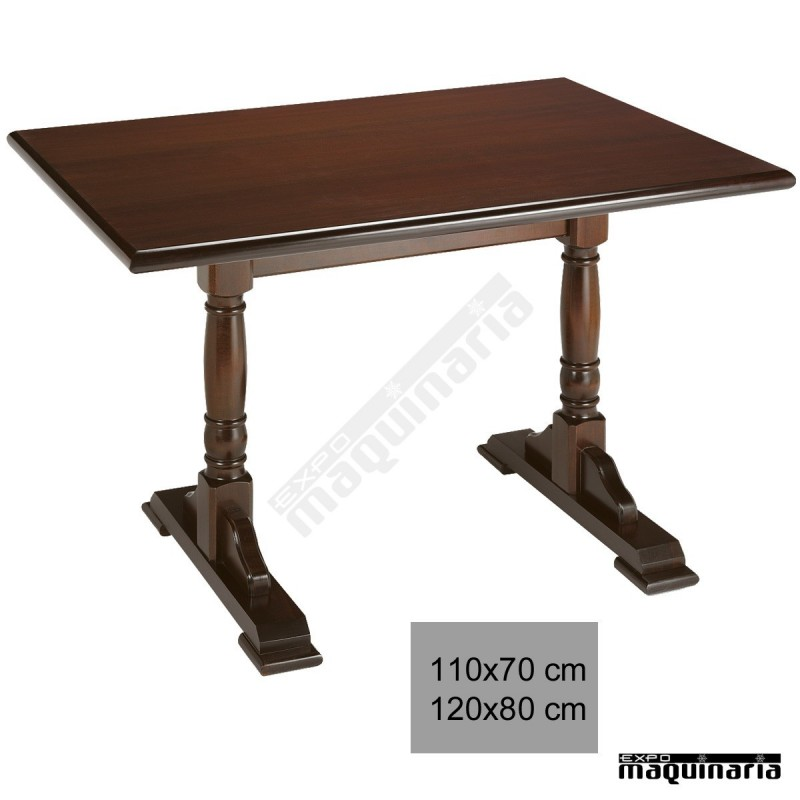 Mesa madera hosteler a 4r1 bar for Mesas de madera para bar