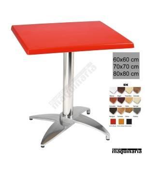 Mesa bar terraza 4R46SMC aluminio
