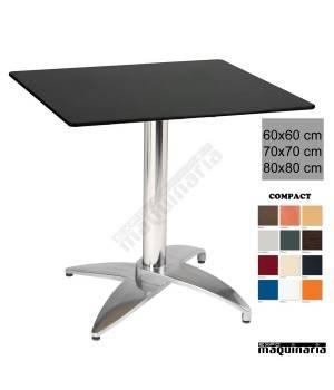 Mesa aluminio terraza 4R46COC cuadrada