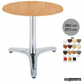 Mesa bar hostelería 3R83SMR redonda