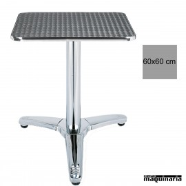 Mesa inox bar 3R83ALC cuadrada