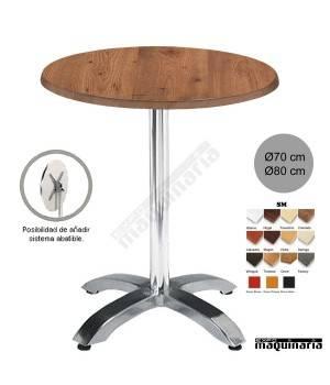 Mesa bar hostelería 4R01SMR redonda