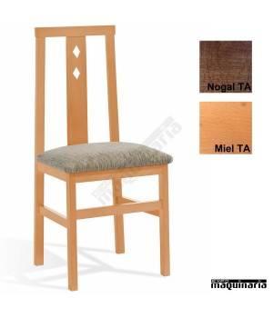 Silla hostelería madera tapizada 1T092