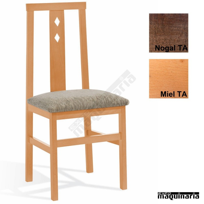 Silla hosteler a madera tapizada 1t092 for Silla industrial barata