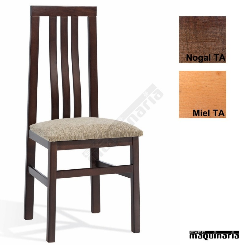 silla bar madera tapizada 1t091