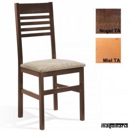 Silla hostelería madera tapizada 1T094