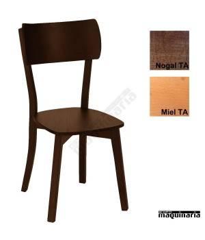 Silla hostelería madera tapizada 1T274