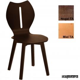 Silla bar hostelería madera 1T292