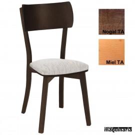 Silla hostelería madera tapizada 1T274TA