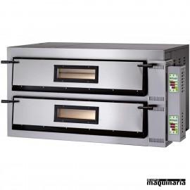 Horno pizza digital doble 12 - Ø36 18kw ASHOR109