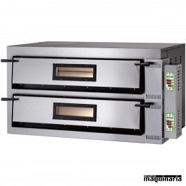 Horno pizza digital doble 8 -Ø36 12000W ASHOR107